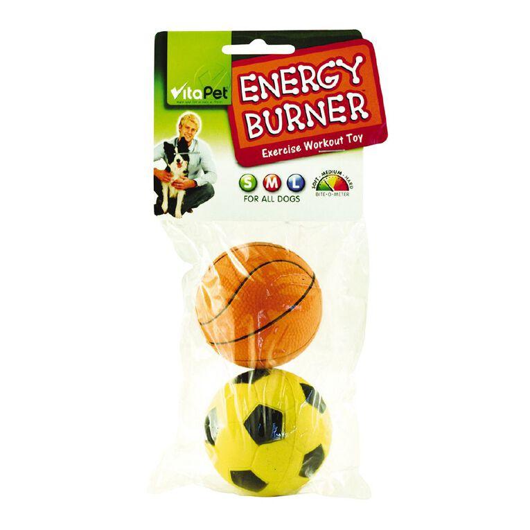 Vitapet Energy Burner 2pk Low Bounce Rubber Balls, , hi-res