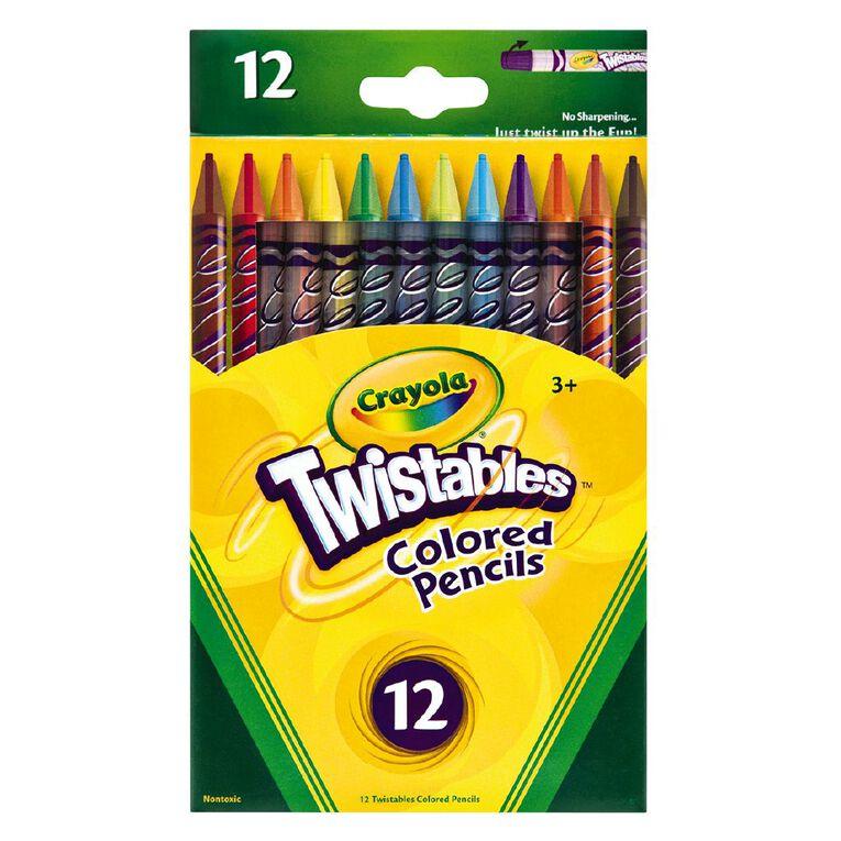 Crayola Twistable Coloured Pencils 12 Pack, , hi-res