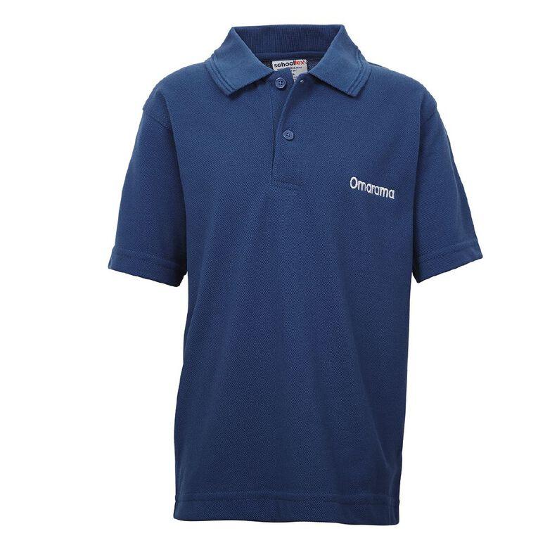 Schooltex Omarama School Short Sleeve Polo with Embroidery, Royal, hi-res