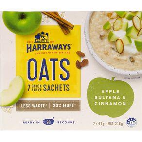 Harraways Apple Sultana Cinnamon 7 Sachets 315g
