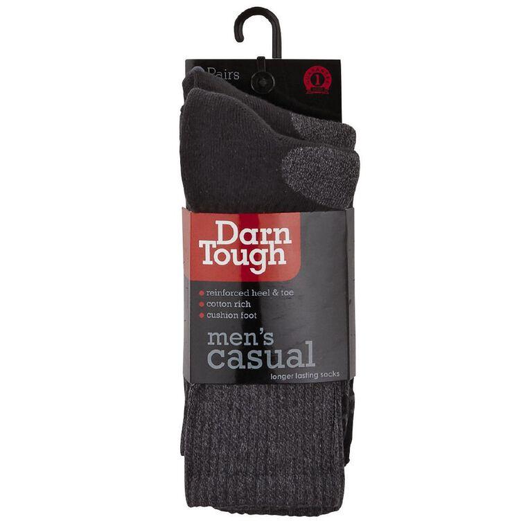 Darn Tough Men's Rib Crew Socks 2 Pack, Charcoal, hi-res image number null