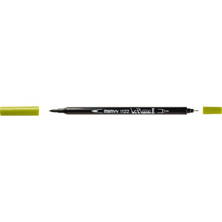 MARVY Le Plume II Dual Tip Marker Jungle Green, , hi-res