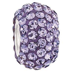Ane Si Dora Sterling Silver Purple Crystal Charm