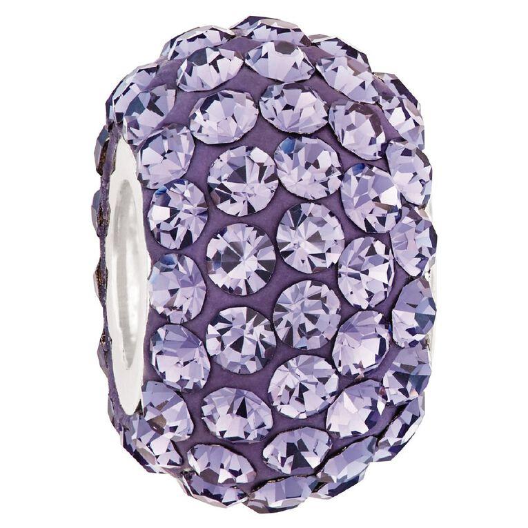Ane Si Dora Sterling Silver Purple Crystal Charm, , hi-res
