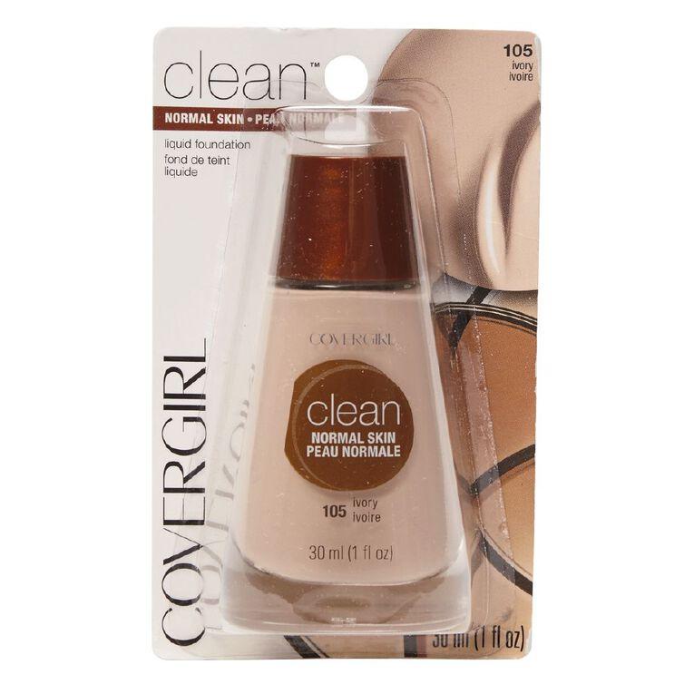 Covergirl Clean Liquid Makeup Ivory 505 30ml, , hi-res
