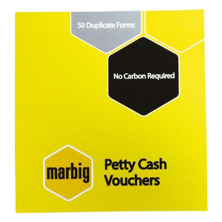 Marbig Petty Cash Vouchers Duplicate 50 Leaf Yellow, , hi-res