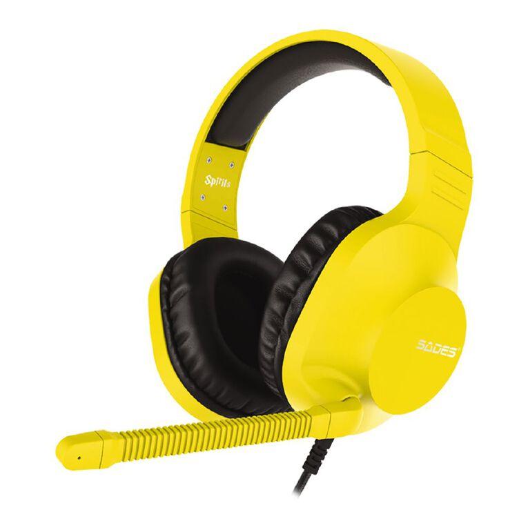 SADES Spirits Gaming Headset Yellow, , hi-res