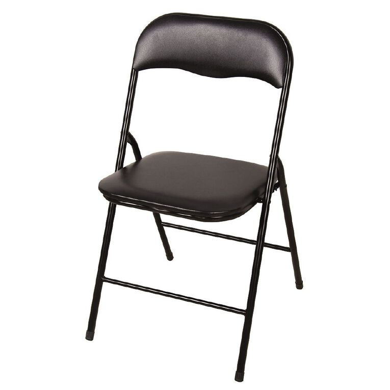 Living & Co Folding Chair Black, , hi-res