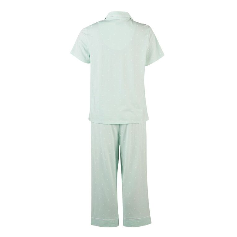 H&H Women's Top And Pyjama Set, Mint, hi-res