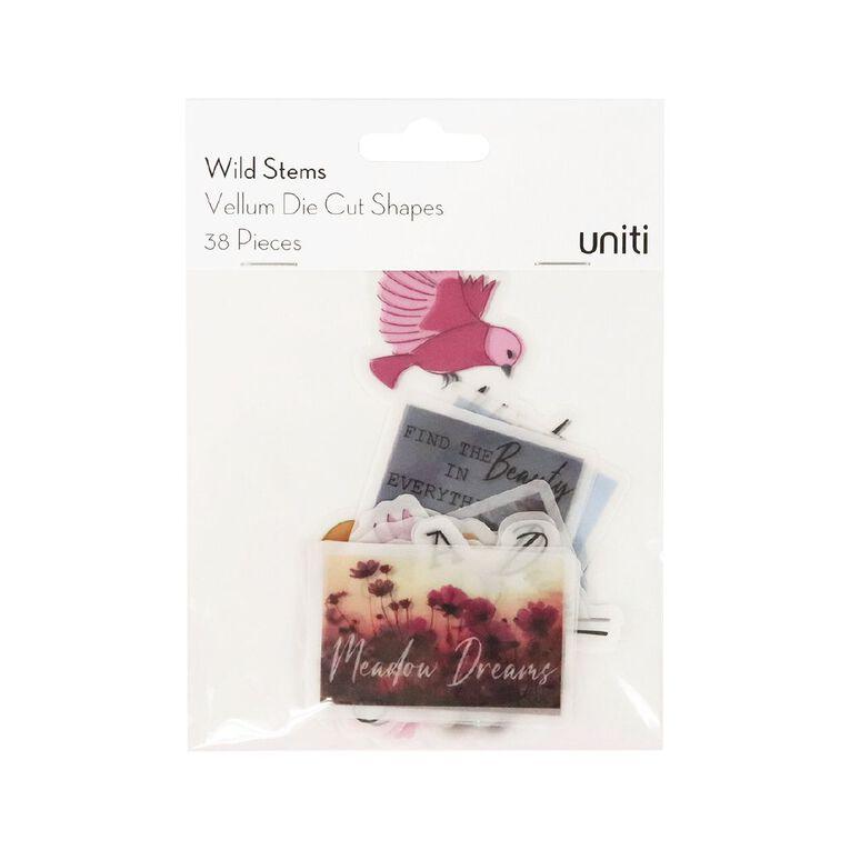 Uniti Wild Stems Vellum Die Cut Shapes 38 Pieces, , hi-res