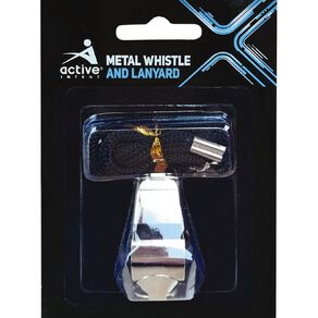 Active Intent Sports Metal Whistle & Lanyard
