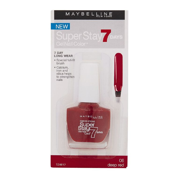 Maybelline Super Stay 7 Day Gel Nail Colour Deep Red, , hi-res