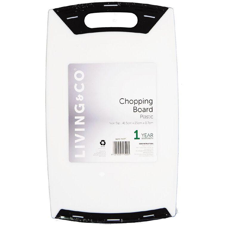 Living & Co Nonslip Chopping Board 41.5cm x 25cm x 0.7cm, , hi-res