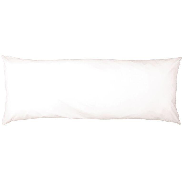Living & Co Body Pillow White 50cm, White, hi-res