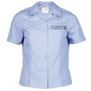 Schooltex St Joseph's Onehunga Short Sleeve Blouse with Embroidery