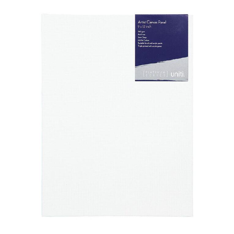 Uniti Platinum Canvas Panel 9x12 Inches 380Gsm, , hi-res