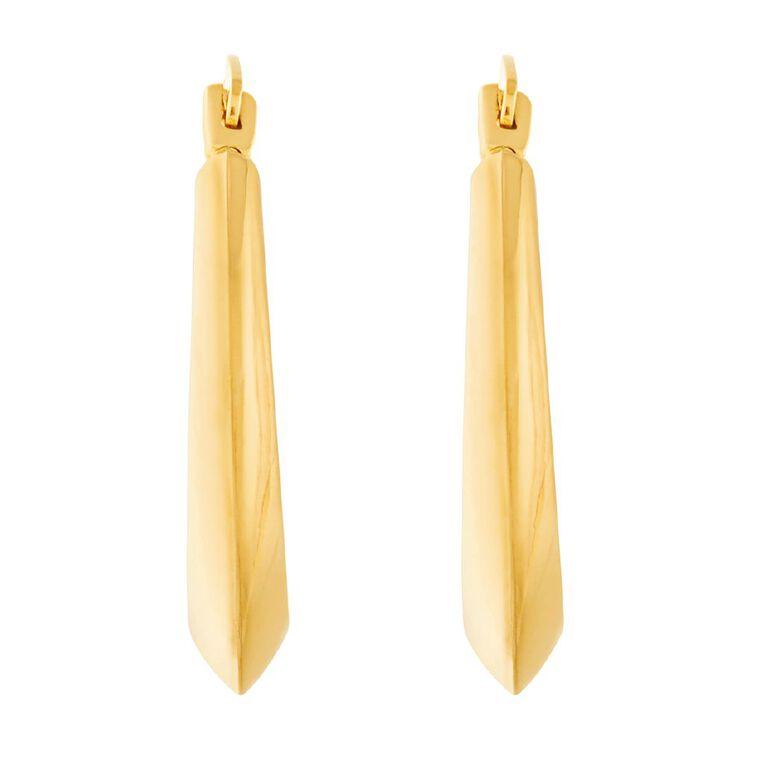 9ct Gold Hoop Earrings Medium, , hi-res