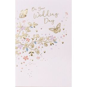 John Sands Wedding Card Dual Butterfly