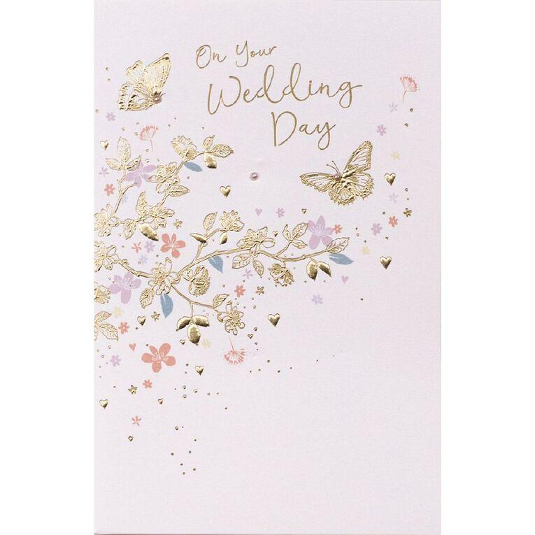 John Sands Wedding Card Dual Butterfly, , hi-res