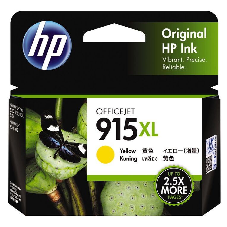 HP Ink 915XL Yellow (825 Pages), , hi-res