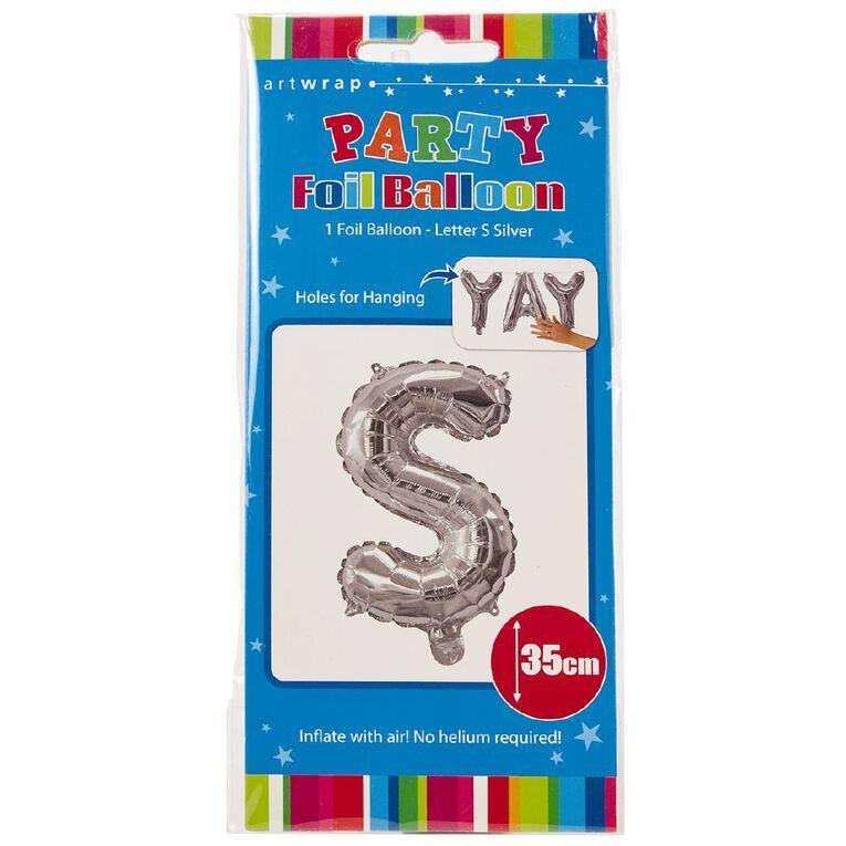 Artwrap Foil Balloon S Silver 35cm, , hi-res