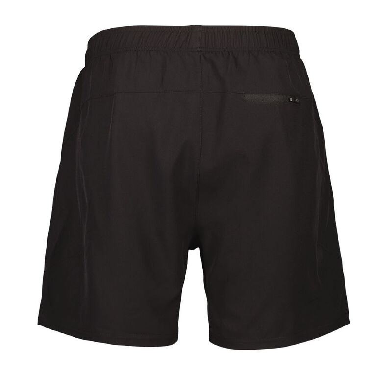 Active Intent Men's Running Shorts with Inner Shorts, Black, hi-res