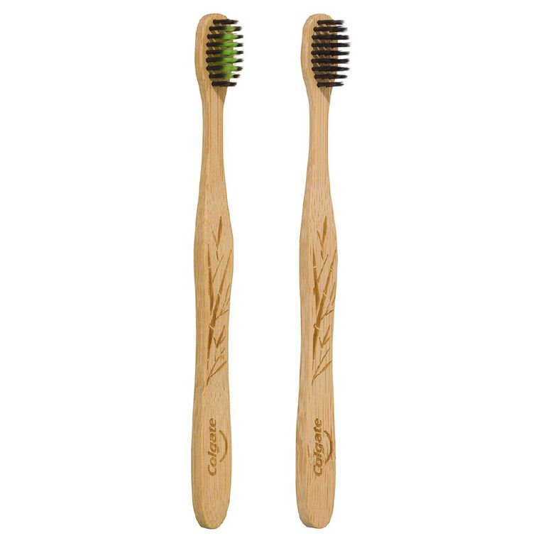 Colgate Bamboo Toothbrush Soft 2 Pack, , hi-res