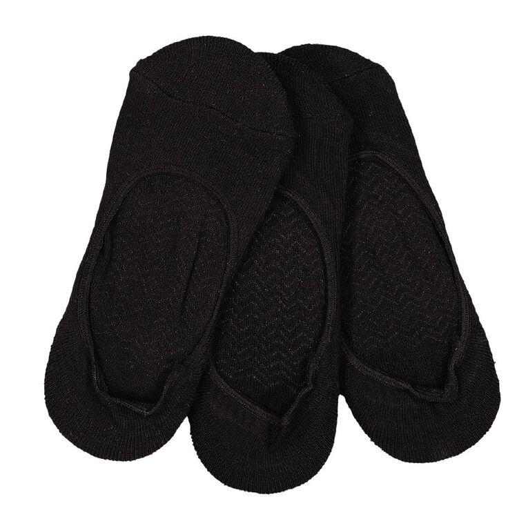 Darn Tough Women's Massage Sole Footlet Socks 3 Pack, Black, hi-res