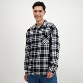 H&H Men's Long Sleeve Flannelette Shirt