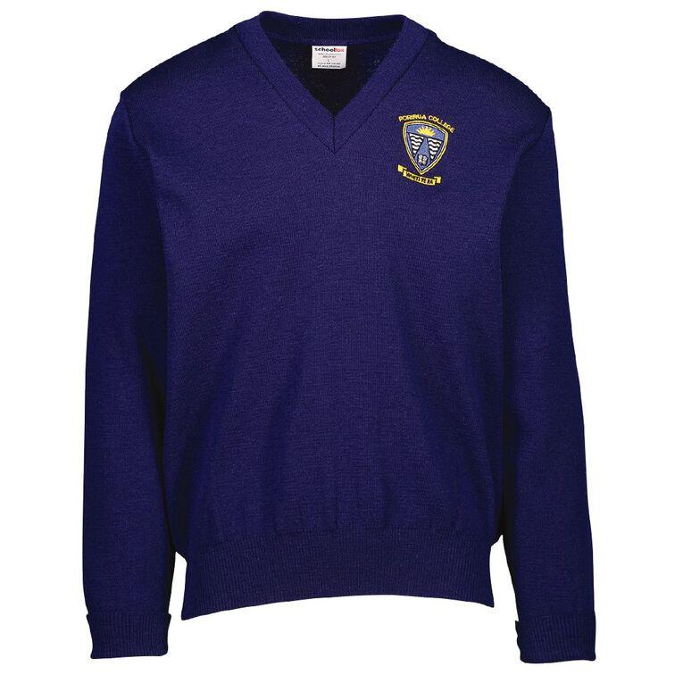 Schooltex Porirua College Jersey with Embroidery, Bright Blue, hi-res