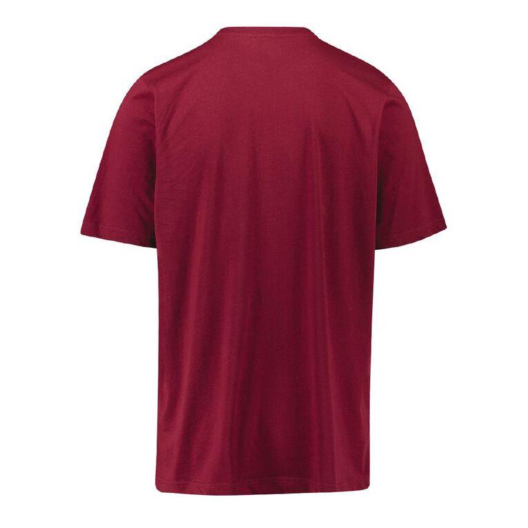 Kappa Men's Cromen Logo Tee, Red Dark, hi-res