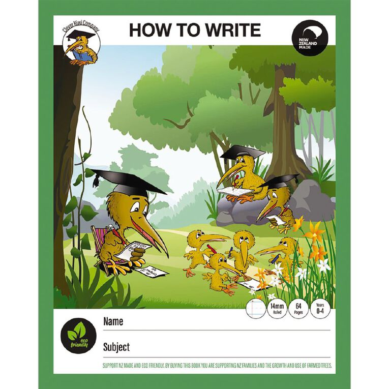 Clever Kiwi How To Write Book Multi-Coloured, , hi-res