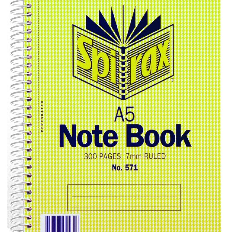 Spirax Notebook Spiral Carboard 300 Pages A5, , hi-res