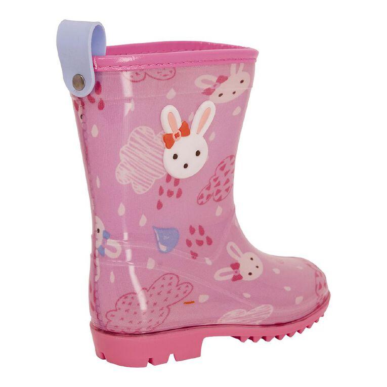 Young Original Bunny Infant Gumboots, Pink, hi-res