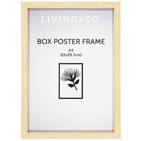 Living & Co Frame Box Poster Oak Wood Brown A4