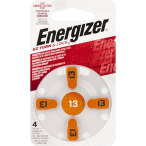 Energizer Hearing Aid Batteries AZ13 4 Pack
