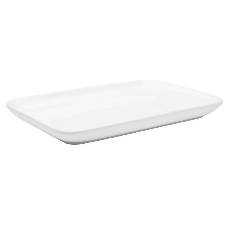 Living & Co Coupe Serve Platter White, , hi-res