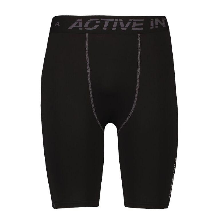 Active Intent Men's Compression Shorts, Black, hi-res