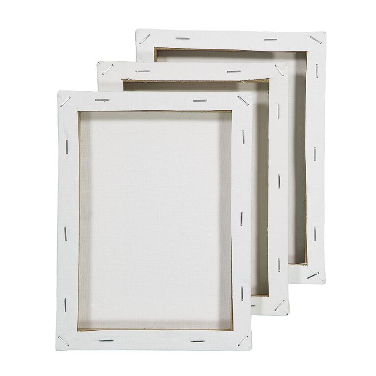 Uniti Blank Canvas 280gsm 8in x 6in 3 Pack, , hi-res image number null