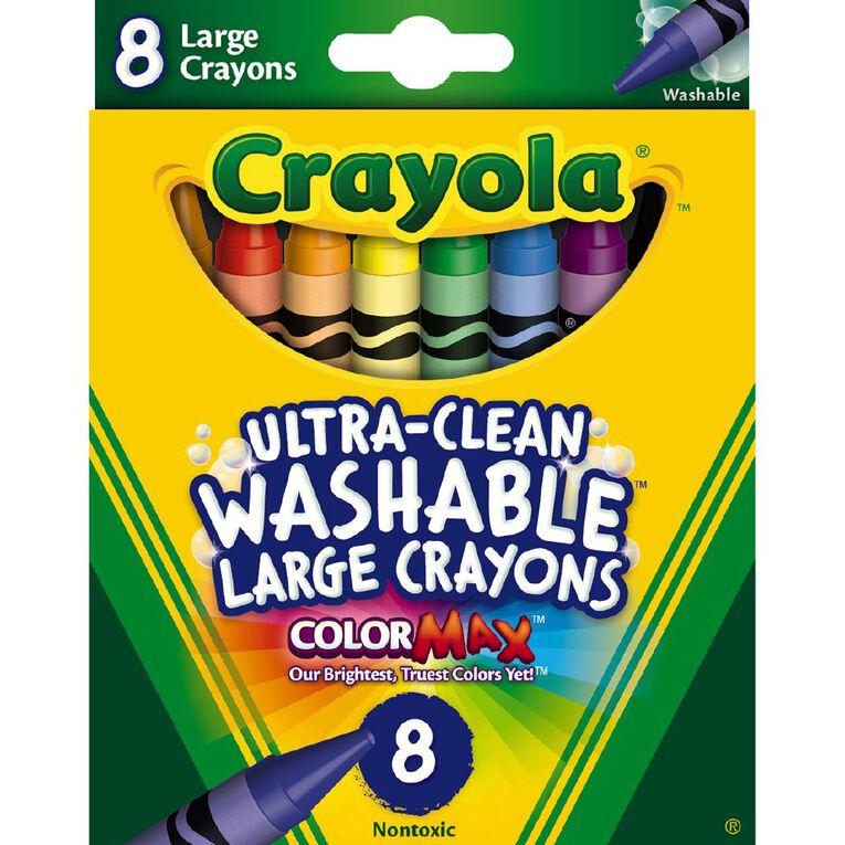 Crayola Washable Crayons Large 8 Pack, , hi-res