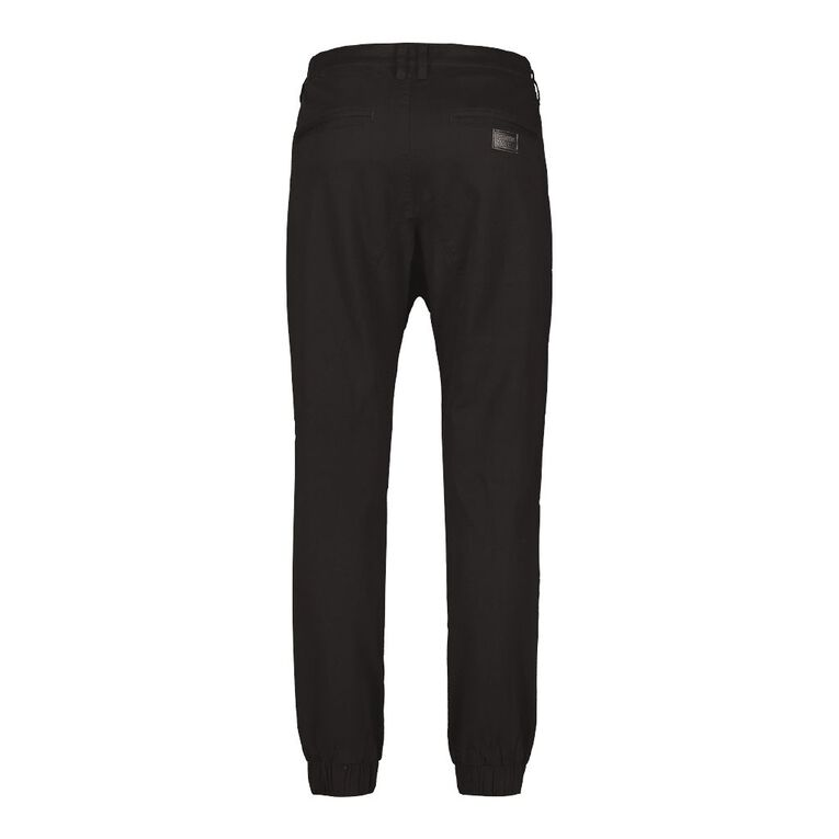 Garage Men's Cuffed Moto Panel Chino Pants, Black, hi-res