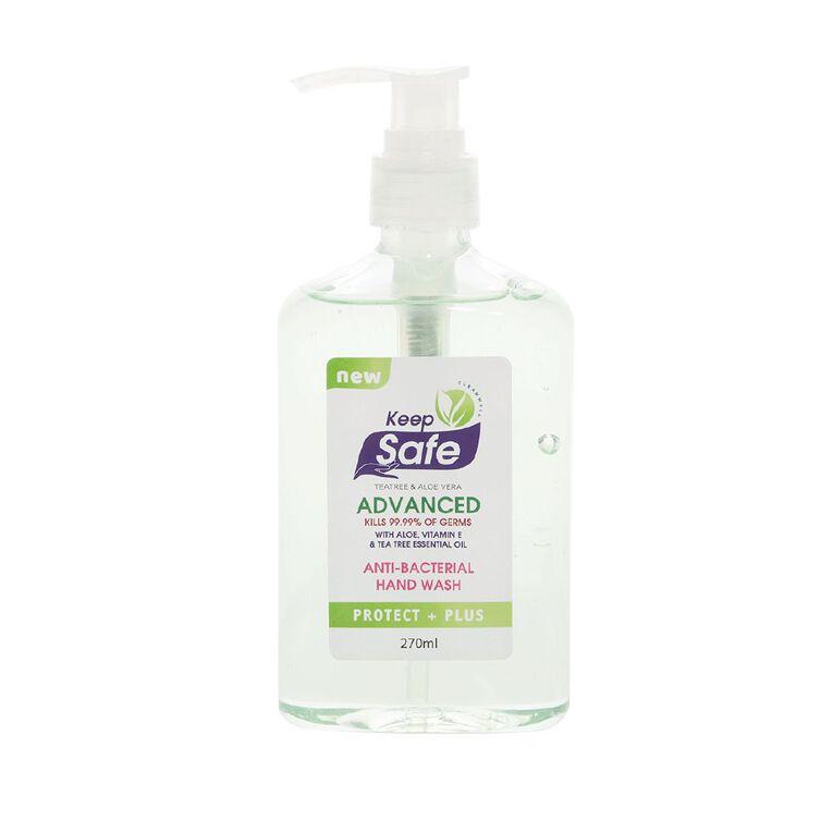 Keep Safe Antibacterial Hand Wash Pump 270ml, , hi-res