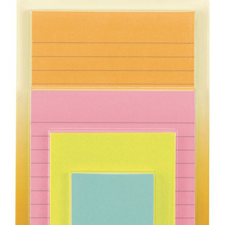 Post-It Super Sticky Notes Miami Collection 4 Pack Assorted, , hi-res