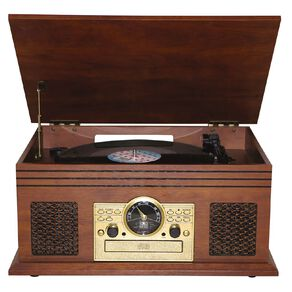 Veon Wood Finish Retro Turntable with Bluetooth VN6282018