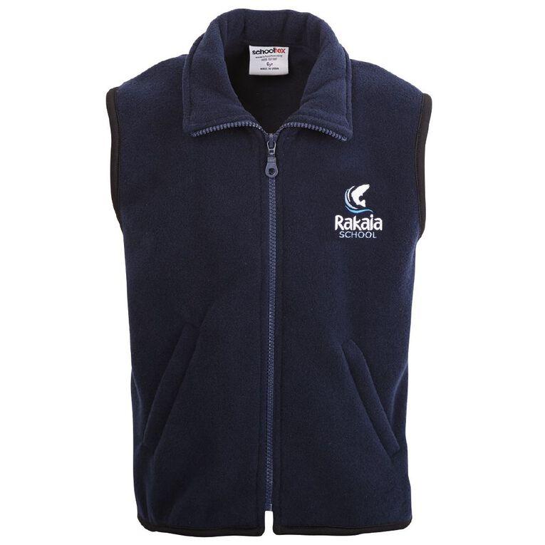 Schooltex Rakaia Polar Fleece Vest with Embroidery, Navy, hi-res