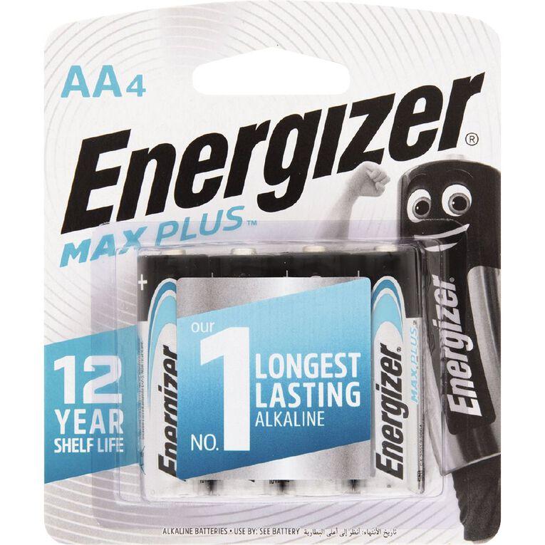 Energizer Max Plus Alkaline Batteries AA 4 Pack, , hi-res
