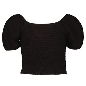Young Original Short Sleeve Shirred Top
