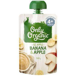 Only Organic Only Organic Banana & Apple 120g