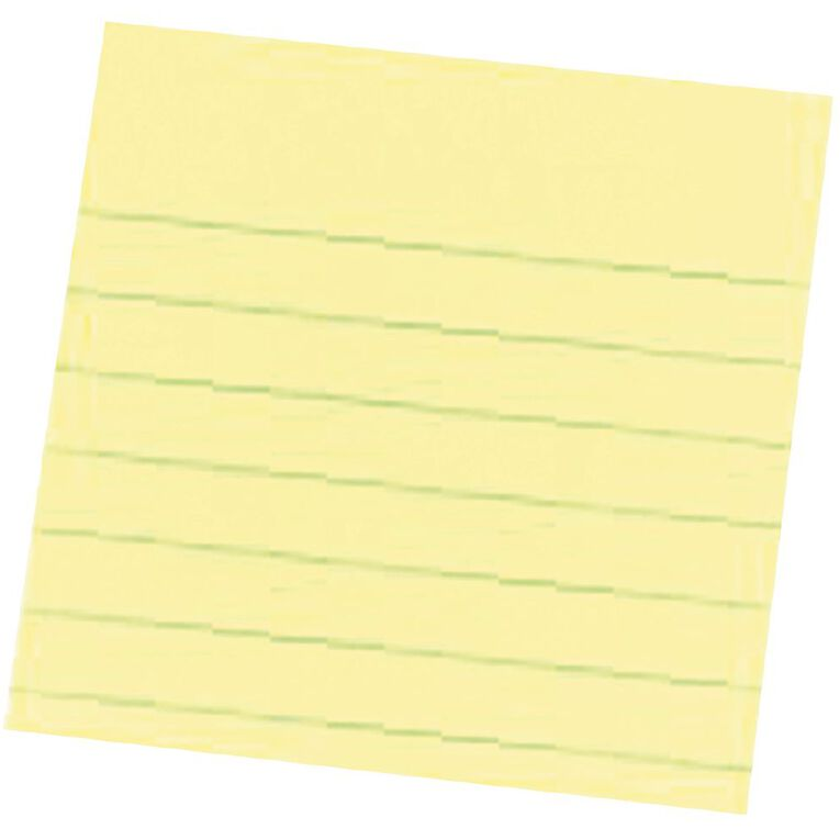 Post-It Notes 76mm x 76mm 630 Lined Canary Yellow, , hi-res