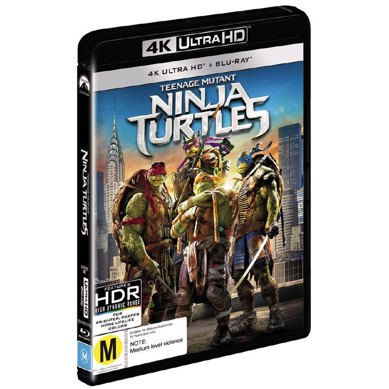 Teenage Mutant Ninja Turtles 2014 4K Blu-ray 2Disc, , hi-res